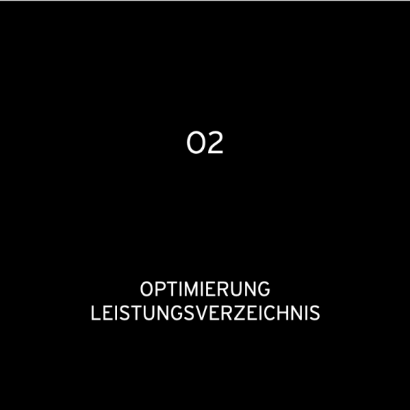 O2 Optimierung LV 2016: Optimierung von Leistungsverzeichnissen und Optimierung (für hvs)