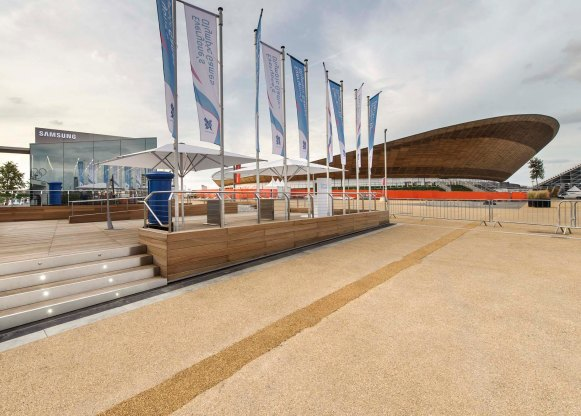 Samsung PIN London Olympic Park 2012: Projektmanagement und -steuerung, Kostenmanagement, Realisierung (für hvs)
