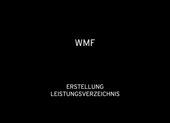 WMF Messekommunikation 2019: Erstellung Leistungsverzeichnis Messeauftritte WMF 2019 (für Holtmann)